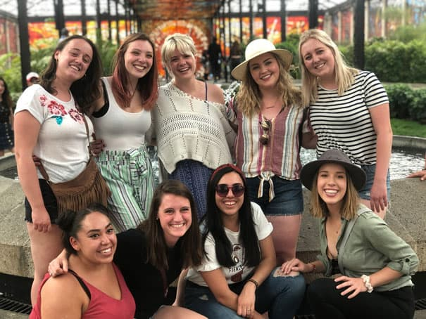 Group of young women in the cast of Up with People