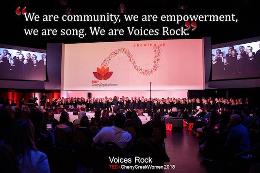 Tedx Performance by Voices Rock in Cherry Creek, Colorado